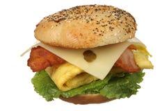 Panino del bagel del formaggio e dell'uovo Fotografia Stock Libera da Diritti