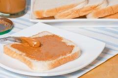 Panino del burro di arachidi fotografia stock