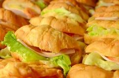 Panino del Croissant fotografie stock