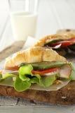 Panino del Croissant Immagine Stock Libera da Diritti