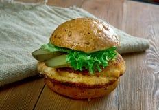 Panino del filetto di carne di maiale Fotografia Stock Libera da Diritti