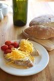 Panino del formaggio Fotografia Stock