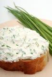Panino del formaggio cremoso Fotografia Stock