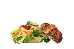 Panino del formaggio della ghiottoneria Immagini Stock