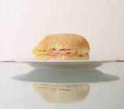 Panino del formaggio e del prosciutto - 1 Immagine Stock Libera da Diritti