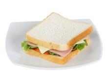 Panino del formaggio e del prosciutto immagini stock libere da diritti