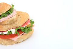 Panino del pane con lo spazio della copia Immagine Stock Libera da Diritti