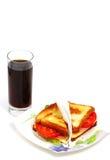 Panino del pane tostato Fotografia Stock