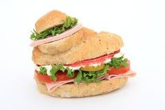 Panino del panino dell'hamburger del pane Fotografie Stock Libere da Diritti
