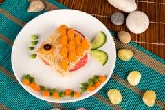 Panino del pesce Immagine Stock Libera da Diritti