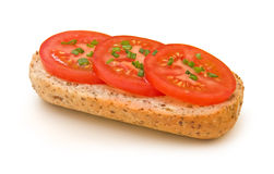 Panino del pomodoro con la erba cipollina #2 Fotografia Stock Libera da Diritti