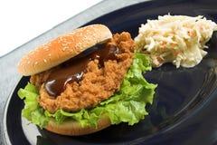 Panino del seno di pollo Fotografie Stock