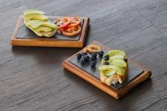 Panino dell'avocado Fotografie Stock Libere da Diritti