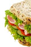 Panino dell'insalata del prosciutto Immagine Stock Libera da Diritti
