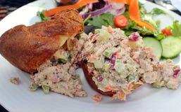 Panino dell'insalata di pollo Immagini Stock Libere da Diritti