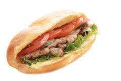 Panino della carne Fotografie Stock