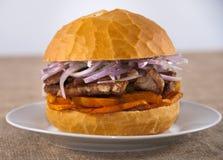 Panino della carne di maiale Fotografia Stock