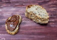 Panino della crema del cioccolato Fotografia Stock Libera da Diritti
