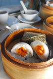 Panino della crema dell'uovo Fotografia Stock