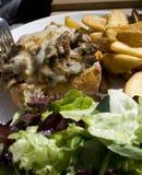 Panino di bistecca Fotografia Stock Libera da Diritti