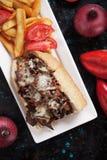 Panino di bistecca del formaggio di Philly Fotografie Stock