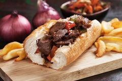 Panino di bistecca di Philly Fotografia Stock