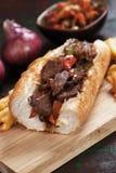 Panino di bistecca di Philly Immagine Stock
