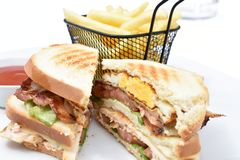 Panino di club immagine stock