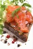 Panino di color salmone Fotografia Stock