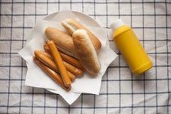 Panino di hot dog Immagine Stock Libera da Diritti