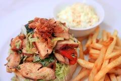 Panino di pollo Fotografia Stock