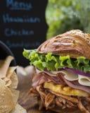 Panino di pollo hawaiano libero del glutine delizioso Fotografie Stock