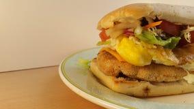 Panino di pollo squisito Fotografia Stock