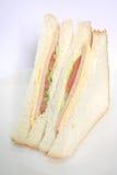 Panino di prosciutto il pasto classico Fotografie Stock
