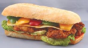 Panino di randello del pollo Fotografie Stock