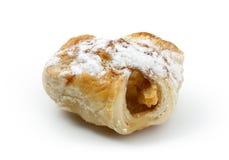 Panino dolce con la mela Fotografia Stock Libera da Diritti