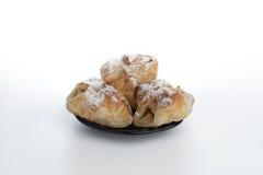 Panino dolce sul piatto Immagini Stock