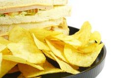 Panino e pasto dei chip combinato fotografia stock libera da diritti