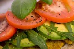 Panino fresco della verdura del tofu Immagini Stock Libere da Diritti