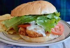 Panino fritto dei pesci immagine stock libera da diritti