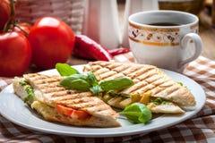 Panino fritto del pane tostato Immagine Stock Libera da Diritti