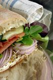 Panino sano del Veggie Fotografia Stock