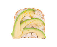Panino sano dell'avocado Immagine Stock
