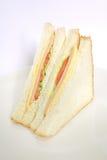 Panino semplice con il panino semplice Fotografia Stock Libera da Diritti