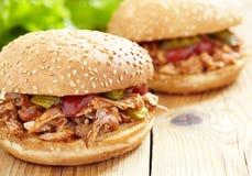 Panino tirato della carne di maiale fotografia stock libera da diritti
