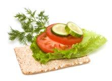 Panino vegetariano Fotografia Stock Libera da Diritti