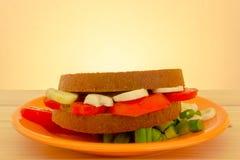 Panino vegetariano Fotografia Stock