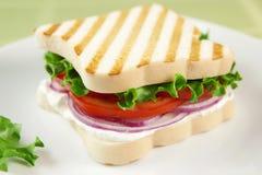 Panino vegetariano libero del glutine immagini stock libere da diritti