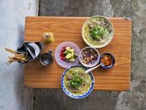 Panino vietnamita BO delle tagliatelle del manzo dell'alimento della via fotografie stock libere da diritti