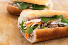 Panino vietnamita della carne di maiale di Banh MI Immagine Stock Libera da Diritti